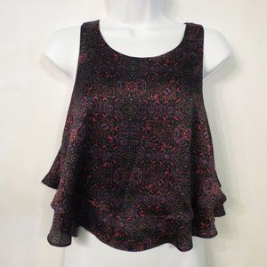 Forever 21 sleeveless crop top Small Boho tiered